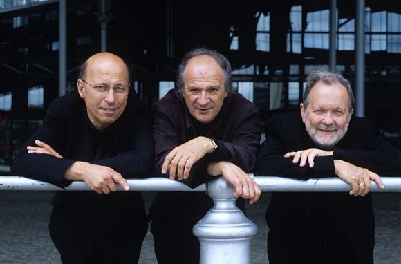 Trio Pennetier Pasquier Pidoux (From left to right:  Roland Pidoux, cello; Régis Pasquier, violin; and Jean-Claude Photo credit: Guy Vivien