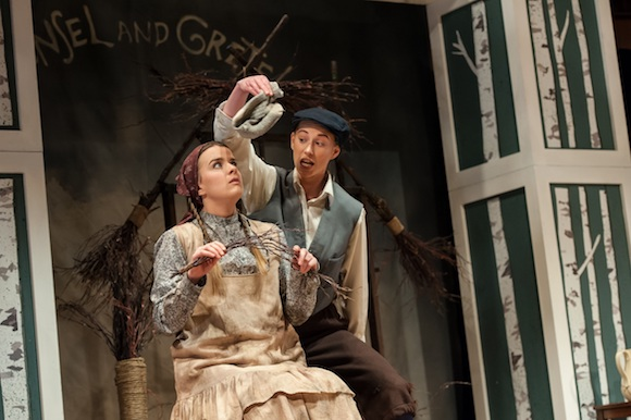 Kendra Dyck (Gretel) & Rachel Miller (Hansel); GGS opera; Lisa Sakulensky Photography;1357sm