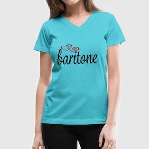 baritone-hearts-women-s-v-neck-t-shirt